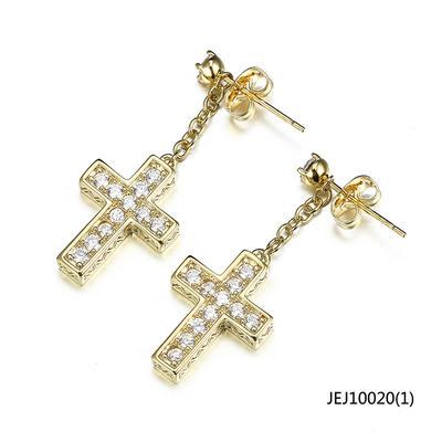 Jasen Jewelry Religion Earrings Cross Drop Earrings