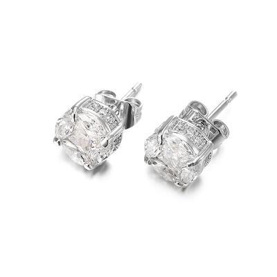 Jasen Jewelry Hip Hop Style Bling Cz Stud Earrings