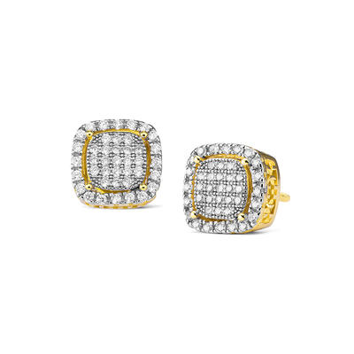 Jasen Jewelry Micro Pave Iced Out Stud Earrings Hip Hop Jewelry Earrings