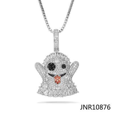 Jasen Jewelry Cz Zirconia Emoji Grimace Pendant Jewelry
