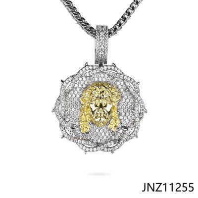 Jasen Jewelry Two Tone Plating Jesus Thorn Religion Pendant