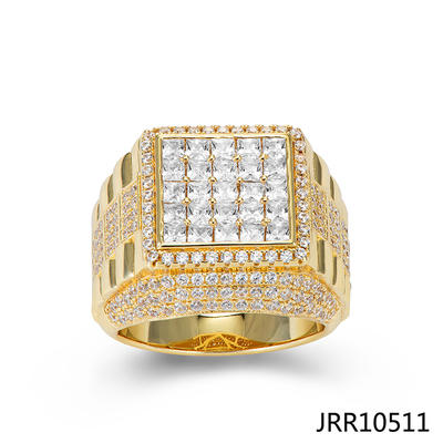 Jasen Jewelry Fashion Rings Hip Hop Mens Gold Ring