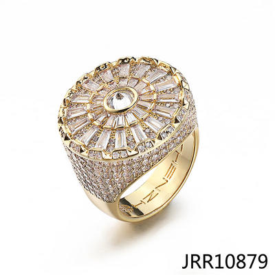 Jasen Jewelry Iced Out Street Jewelry Ring Gold For Men