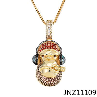 JASEN JEWELRY Baboon Animal Design Silver Pendant