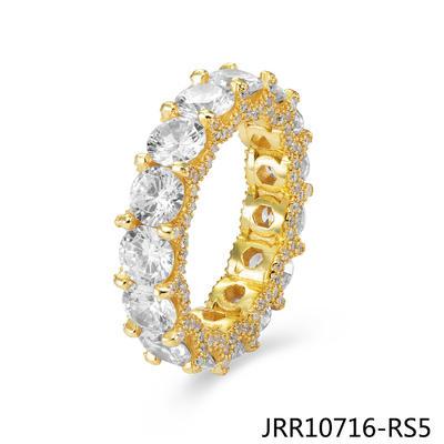 JASEN JEWELRY Circle Ring Tennis Ring Mens Bling Rings