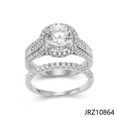 JASEN JEWELRY 925 sterling silver rhodium plating Engagement Ring Custom Women Wedding Rings