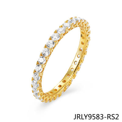 JASEN JEWELRY Circle ring single bling rings jewelry